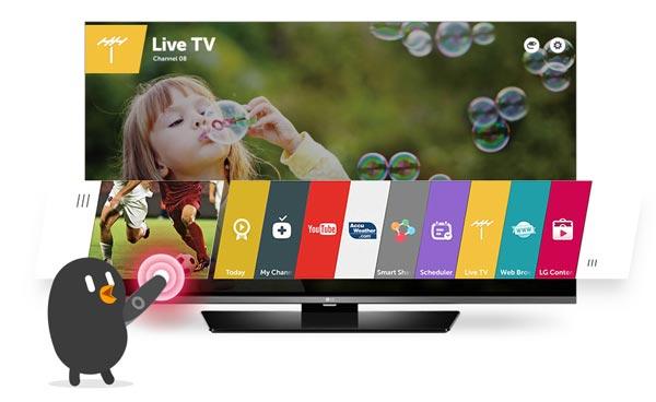 55LF651Vتلویزیون 55 اینچ سه بعدی اسمارت ال جی LG TV